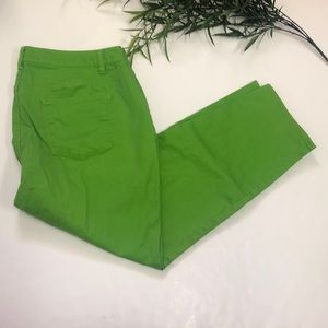 Talbots Curvy Slim Ankle Jeans Size 18WP Green